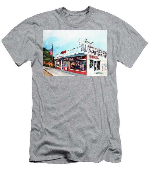 Dolphin Dock I Men's T-Shirt (Athletic Fit)