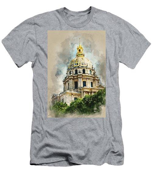 Dome Des Invalides Men's T-Shirt (Slim Fit) by Kai Saarto