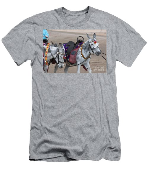 Donkeys On Blackpool Beach Men's T-Shirt (Athletic Fit)