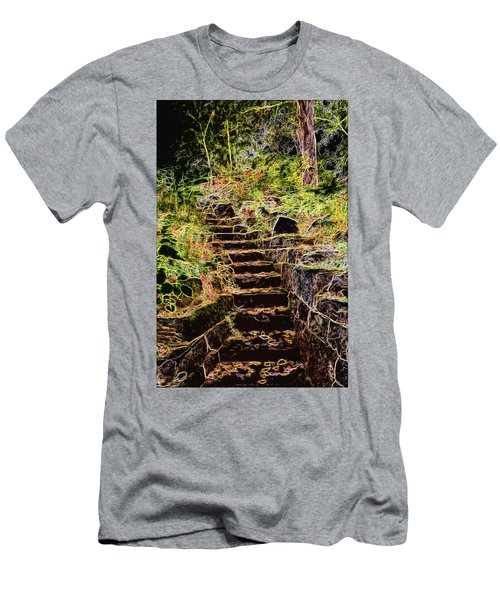 Don't Be Afraid Men's T-Shirt (Slim Fit) by Carol Crisafi