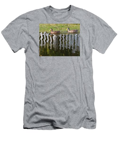 Don't Fence Us In Men's T-Shirt (Slim Fit) by Kathy M Krause