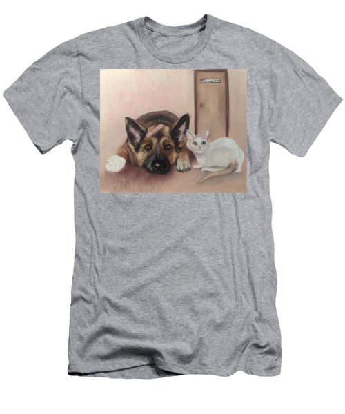 Don't Mess With The Cat  Men's T-Shirt (Athletic Fit)