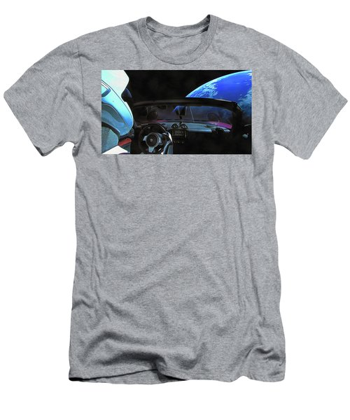Dont Panic - Tesla In Space Men's T-Shirt (Athletic Fit)