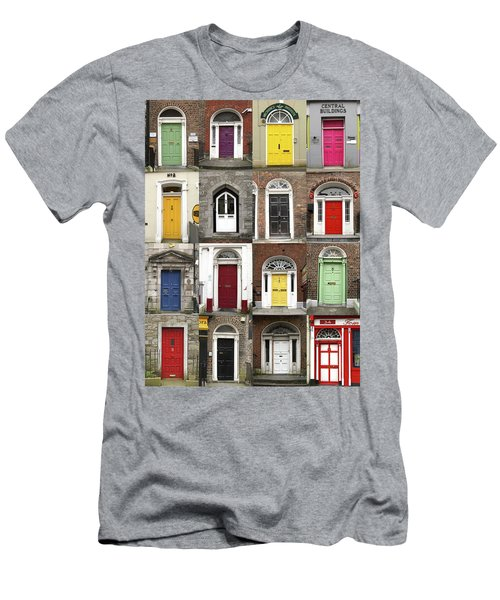 Men's T-Shirt (Slim Fit) featuring the photograph Doors Of Limerick by Marie Leslie