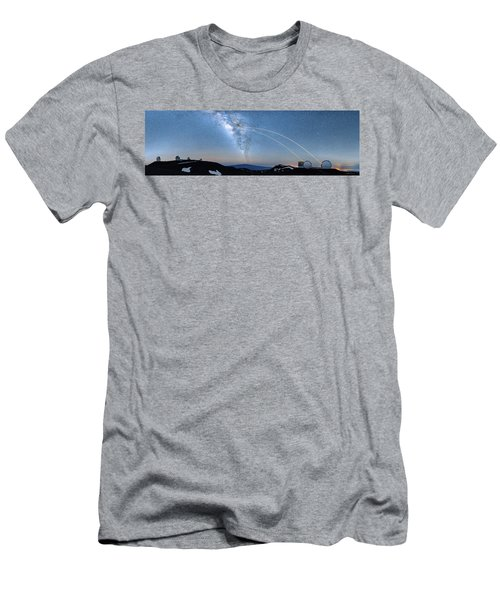 Double Lasers With The Milky Way Panorama Men's T-Shirt (Athletic Fit)