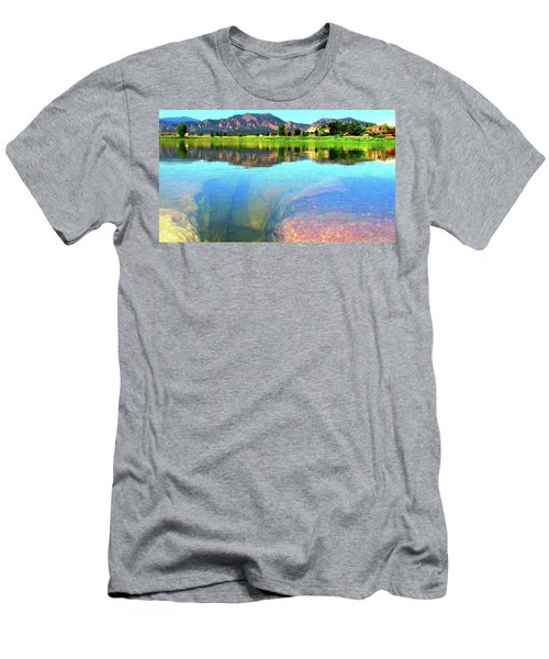 Men's T-Shirt (Slim Fit) featuring the photograph Doughnut Lake by Eric Dee