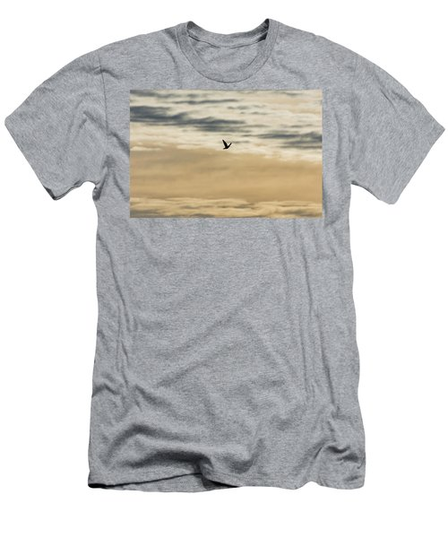 Dove In The Clouds Men's T-Shirt (Athletic Fit)