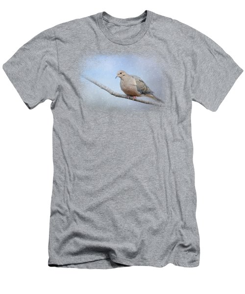 Dove In The Snow Men's T-Shirt (Athletic Fit)