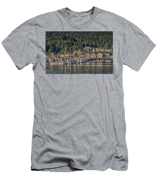 Men's T-Shirt (Slim Fit) featuring the photograph Down At The Basin by Timothy Latta