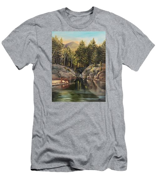 Down By The Pemigewasset River Men's T-Shirt (Slim Fit) by Nancy Griswold