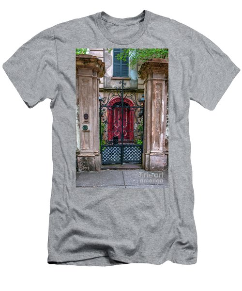 Downtown Charleston Architecture Men's T-Shirt (Athletic Fit)