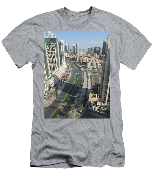 Men's T-Shirt (Slim Fit) featuring the photograph Downtown Dubai by Marie Neder