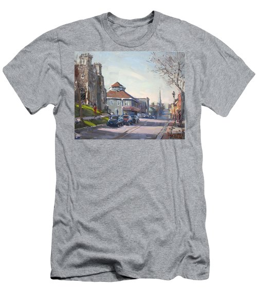 Downtown Georgetown On Men's T-Shirt (Athletic Fit)