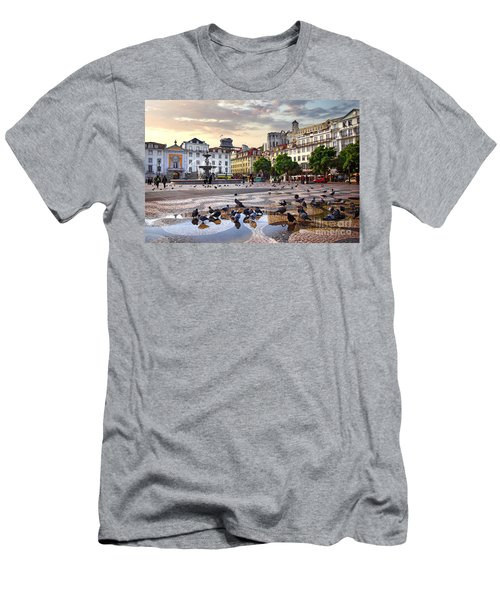 Downtown Lisbon Men's T-Shirt (Athletic Fit)