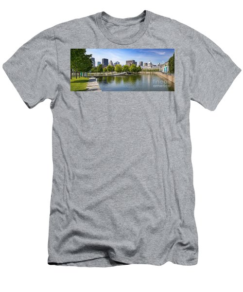 Downtown Montreal In Summer Men's T-Shirt (Athletic Fit)