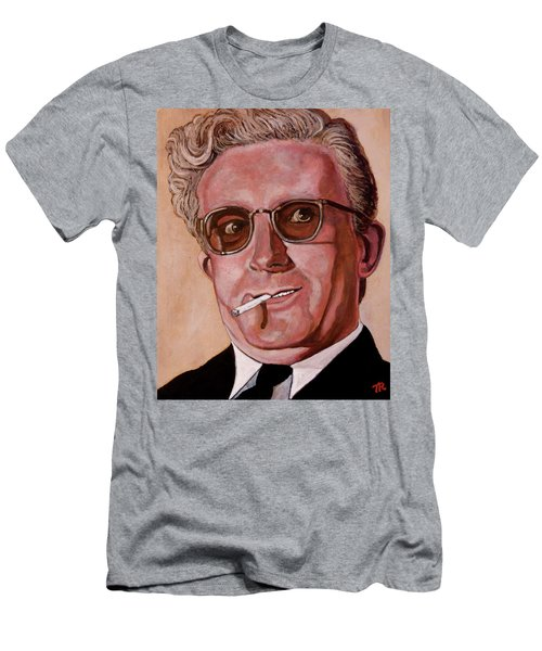 Men's T-Shirt (Slim Fit) featuring the painting Dr Strangelove 2 by Tom Roderick