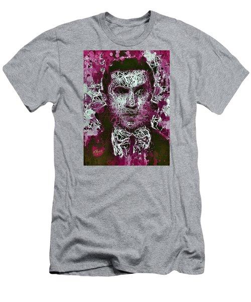 Men's T-Shirt (Athletic Fit) featuring the mixed media Dracula by Al Matra