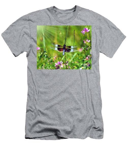 Dragonfly Delight Men's T-Shirt (Slim Fit) by Kerri Farley