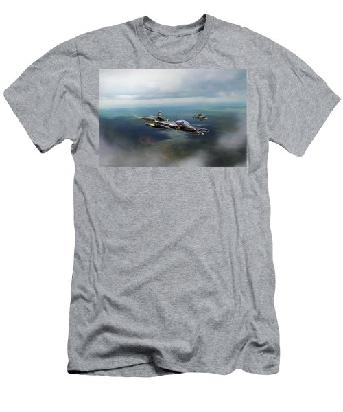 Men's T-Shirt (Slim Fit) featuring the digital art Dragonfly Special Operations by Peter Chilelli