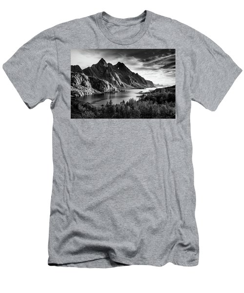 Dramatic Lofoten Men's T-Shirt (Slim Fit) by Alex Conu