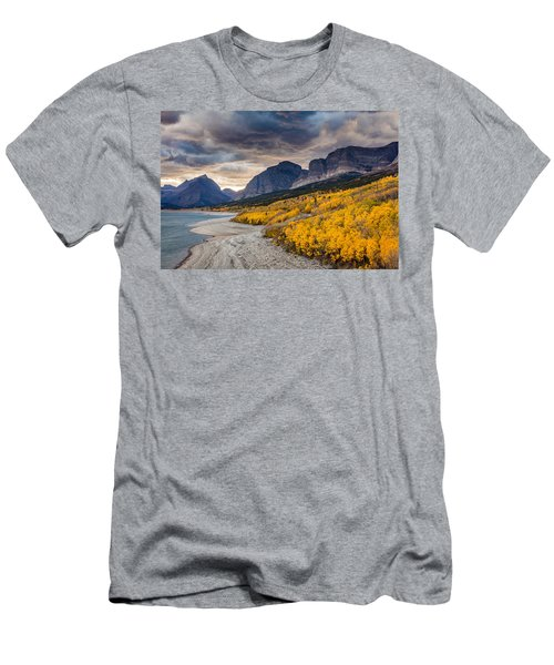 Dramatic Sunset Sky In Autumn  Men's T-Shirt (Slim Fit) by Pierre Leclerc Photography