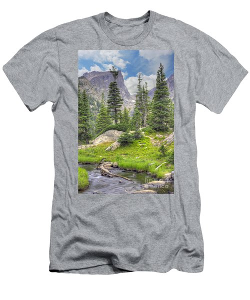 Dream Lake Men's T-Shirt (Slim Fit) by Juli Scalzi