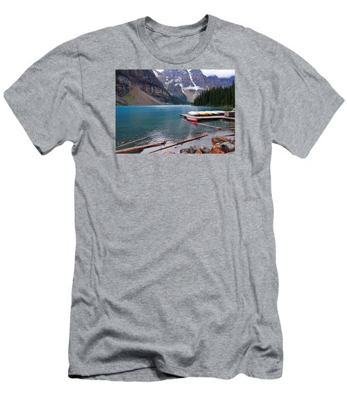 Moraine Lake, Ab  Men's T-Shirt (Athletic Fit)
