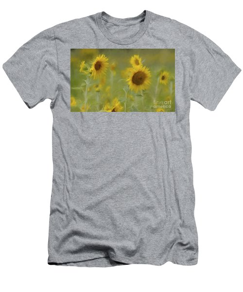Men's T-Shirt (Slim Fit) featuring the photograph Dreaming Of Sunflowers by Benanne Stiens