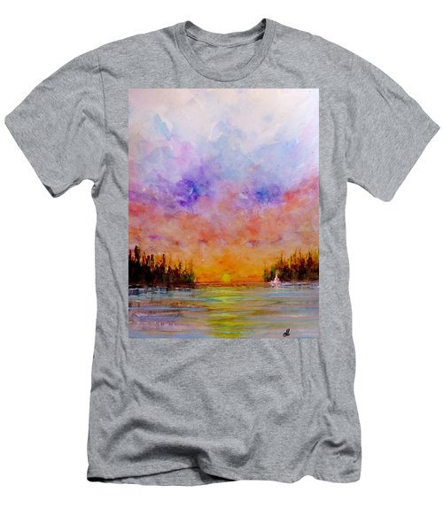 Men's T-Shirt (Slim Fit) featuring the painting Dreamscape.. by Cristina Mihailescu