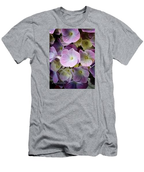 Men's T-Shirt (Slim Fit) featuring the photograph Dreamy Hydrangea by Mimulux patricia no No