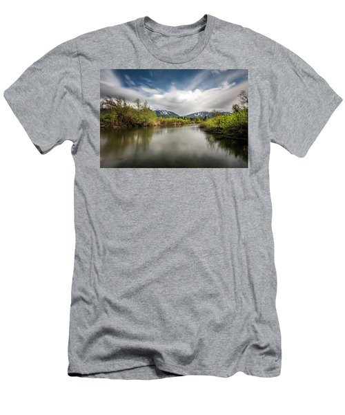 Men's T-Shirt (Slim Fit) featuring the photograph Dreamy River Of Golden Dreams by Pierre Leclerc Photography