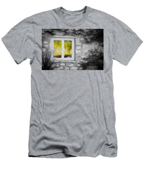 Dreamy Window Men's T-Shirt (Slim Fit) by Carol Crisafi