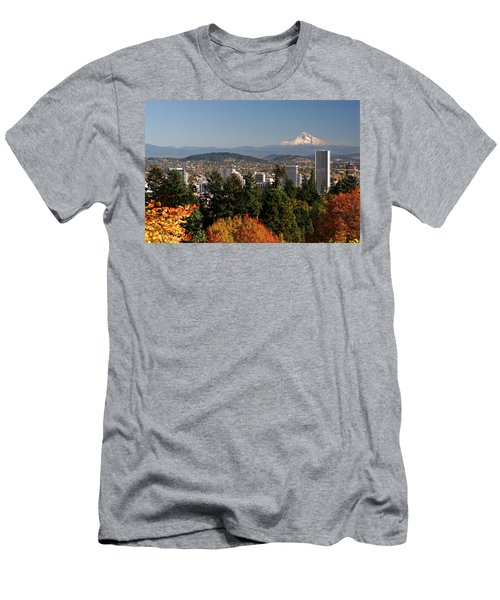 Dressed In Fall Colors Men's T-Shirt (Slim Fit) by Wes and Dotty Weber