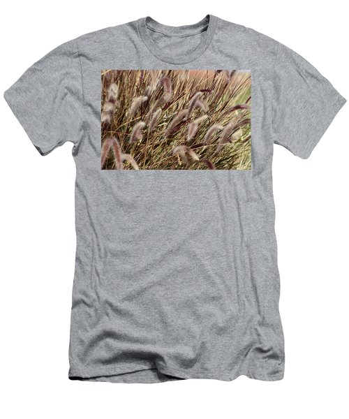 Dried Grasses In Burgundy And Toasted Wheat Men's T-Shirt (Athletic Fit)