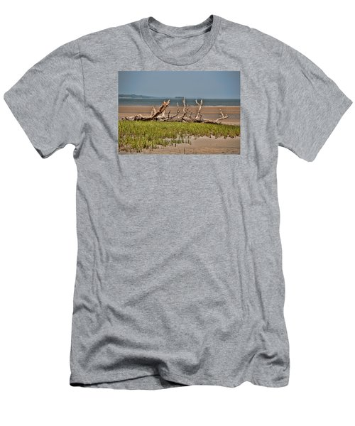 Driftwood With Baracles Men's T-Shirt (Slim Fit) by John Black