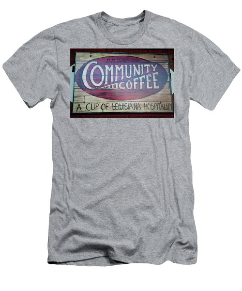 Drink Community Coffee Men's T-Shirt (Athletic Fit)