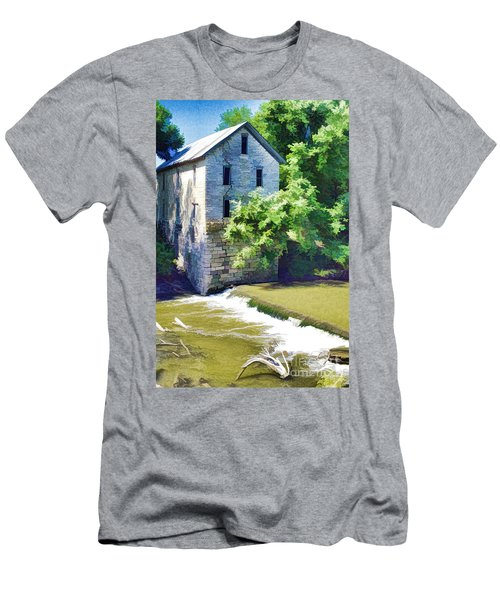 Drinkwater And Schriver Mill Cedar Point Kansas  Men's T-Shirt (Athletic Fit)