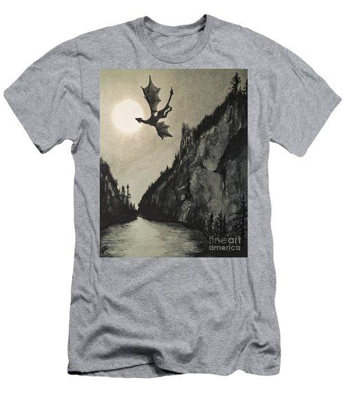 Men's T-Shirt (Athletic Fit) featuring the painting Drogon's Lair by Suzette Kallen