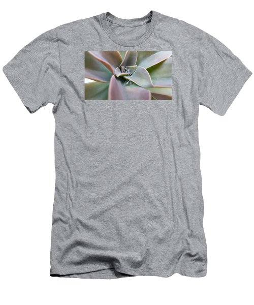 Droplets On Succulent Men's T-Shirt (Slim Fit) by Ian Kowalski