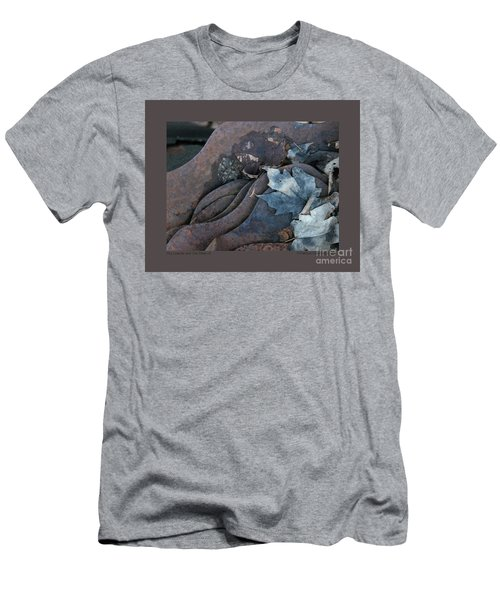 Dry Leaves And Old Steel-ix Men's T-Shirt (Slim Fit) by Patricia Overmoyer