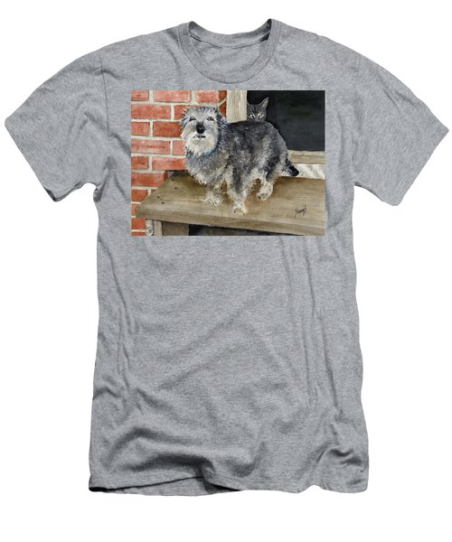 Men's T-Shirt (Athletic Fit) featuring the painting Dub And Tiger by Sam Sidders