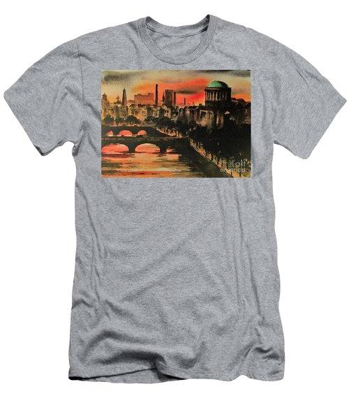 Dublin Sunset Men's T-Shirt (Athletic Fit)