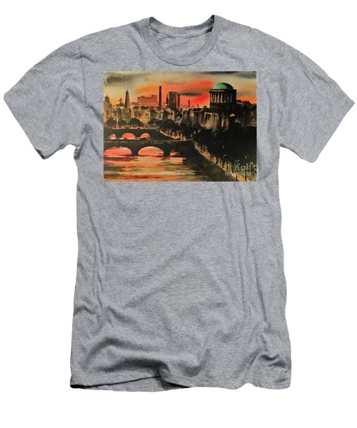 Dublin Sunset Men's T-Shirt (Athletic Fit)