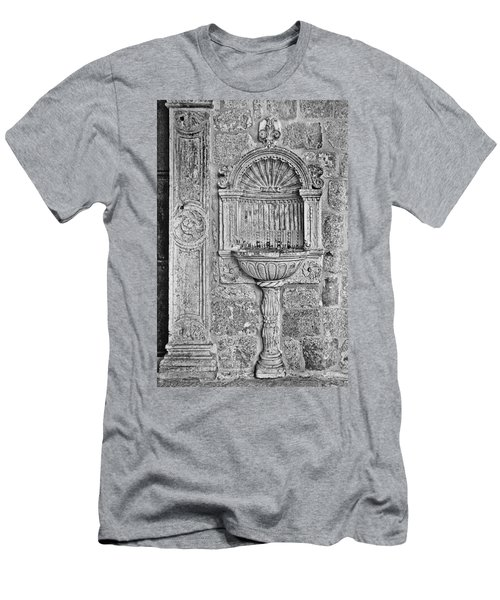 Dubrovnik Wall Art - Black And White Men's T-Shirt (Athletic Fit)
