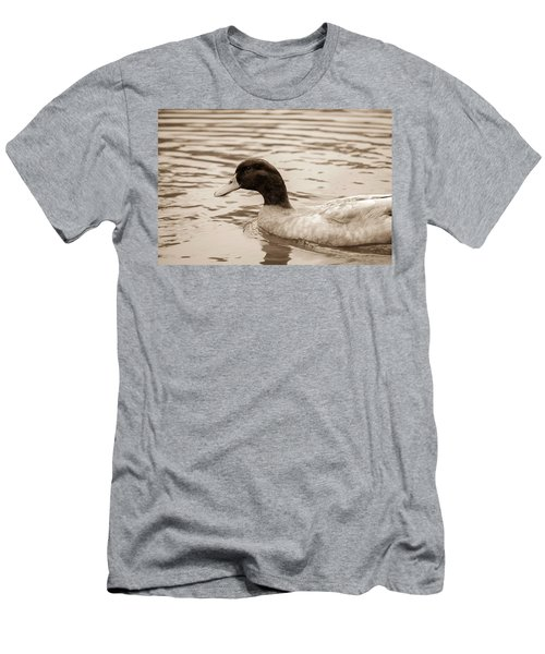 Duck In Pond Men's T-Shirt (Athletic Fit)