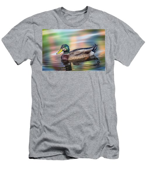 Duck In Water With Autumn Colors Men's T-Shirt (Athletic Fit)