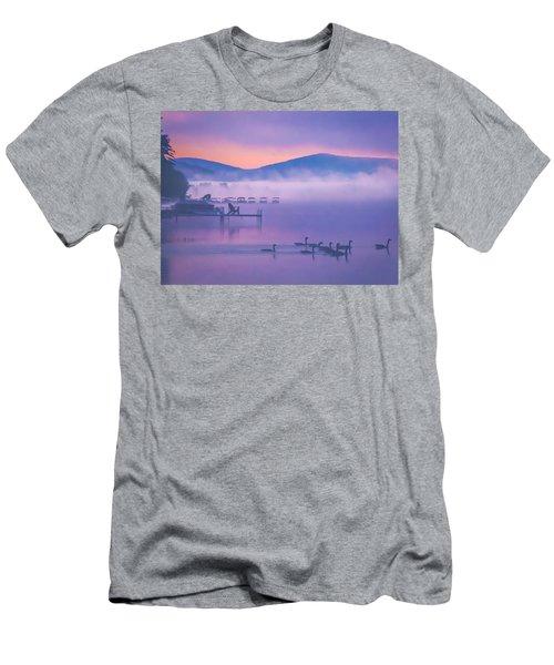 Ducks Under Fog Men's T-Shirt (Athletic Fit)