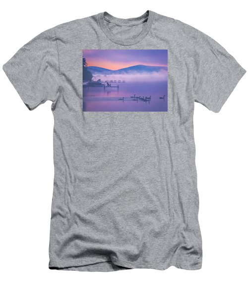 Ducks Under Fog Men's T-Shirt (Athletic Fit)