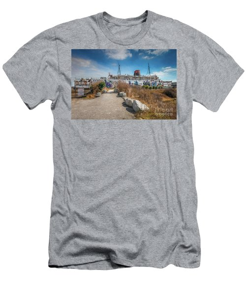 Men's T-Shirt (Slim Fit) featuring the photograph Duke Of Lancaster Graffiti by Adrian Evans