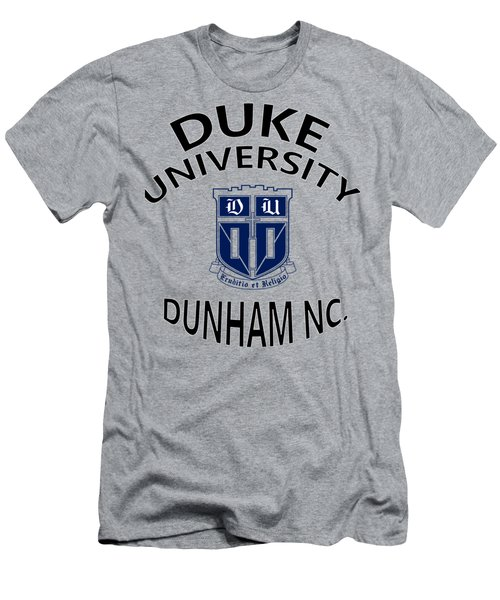 Duke University Dunham N C  Men's T-Shirt (Slim Fit) by Movie Poster Prints